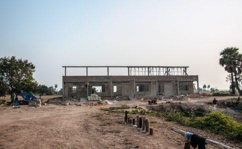 カンボジアの学校建設地73日目の様子