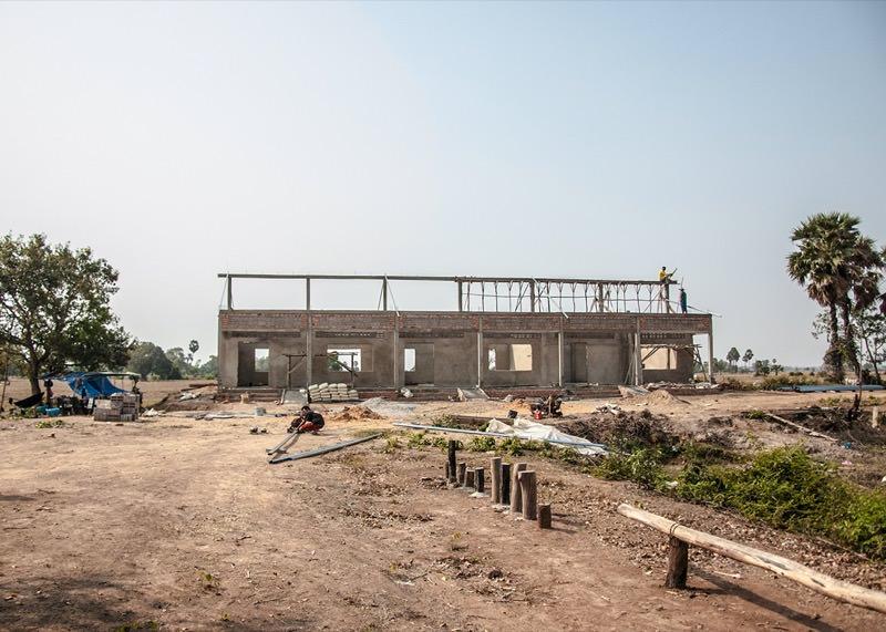 カンボジアの学校建設地74日目の様子