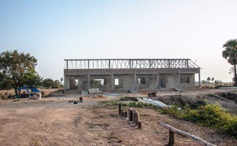 カンボジアの学校建設地75日目の様子