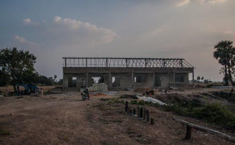 カンボジアの学校建設地76日目の様子