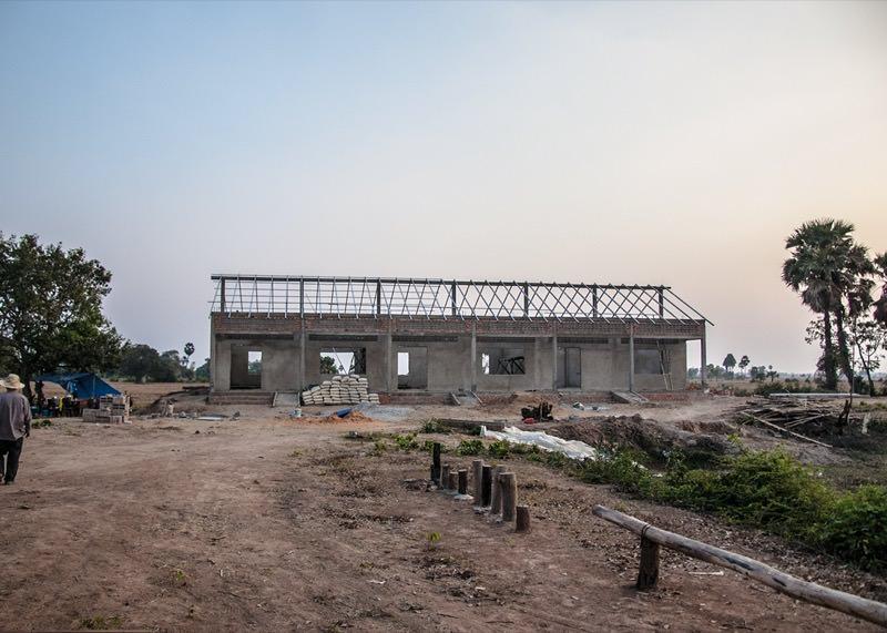 カンボジアの学校建設地77日目の様子