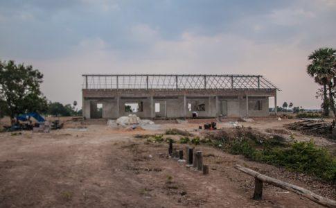カンボジアの学校建設地78日目の様子
