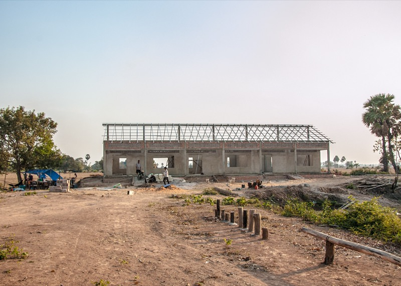カンボジアの学校建設地79日目の様子