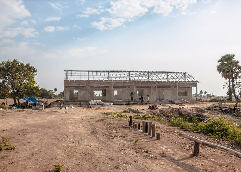 カンボジアの学校建設地80日目