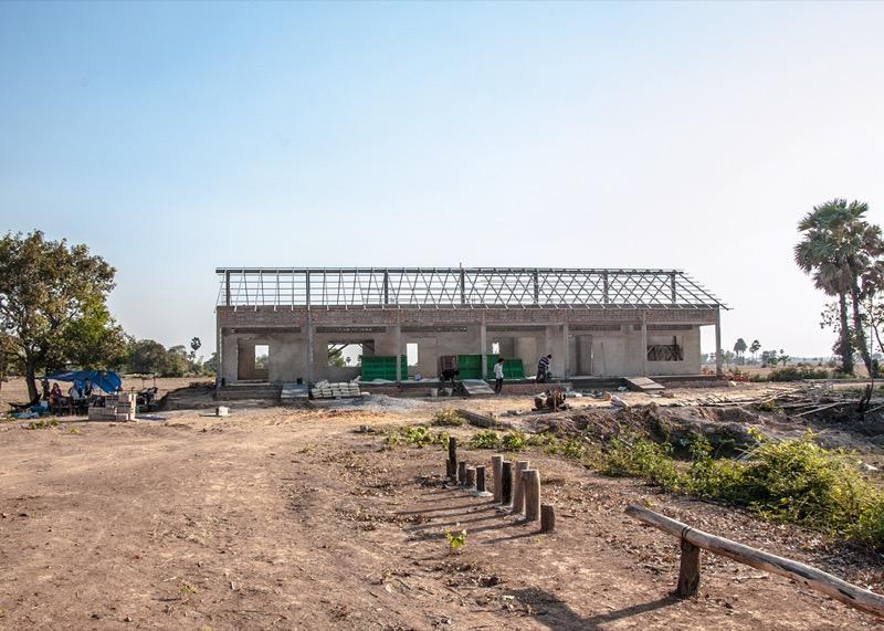 カンボジアの学校建設地81日目の様子