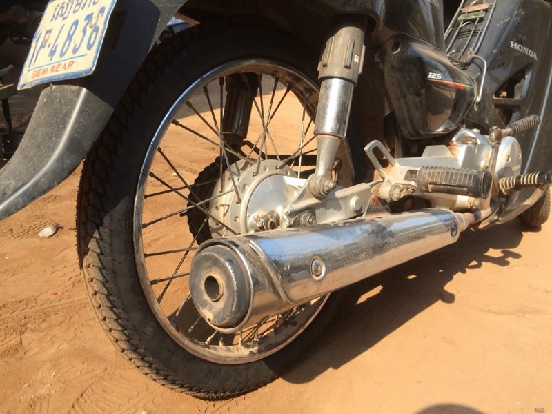 パンクしやすいバイク
