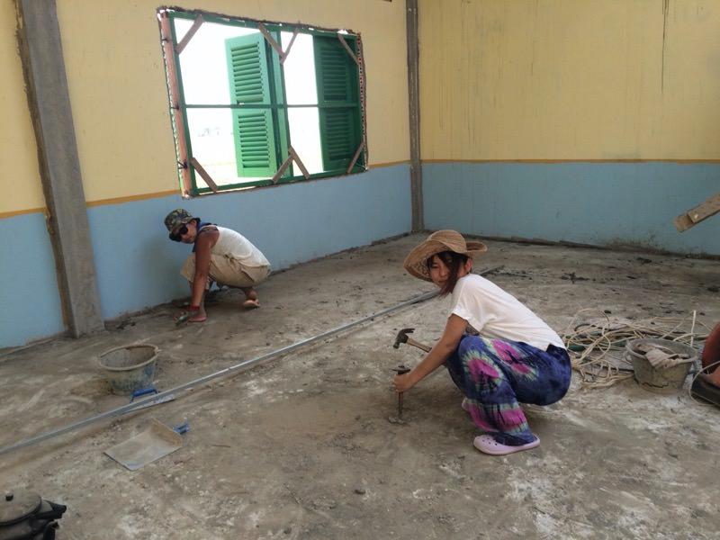 教室の掃除