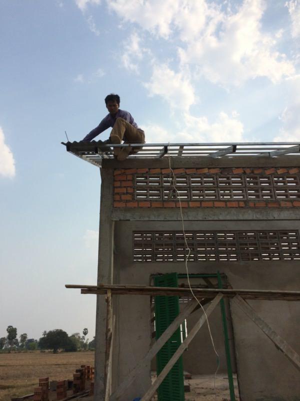 屋根の取り付け