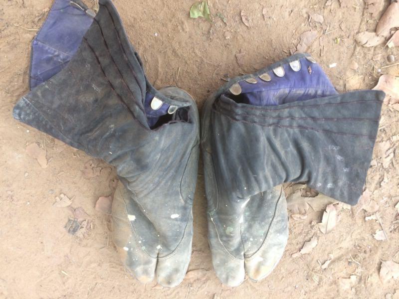 異臭がする足袋