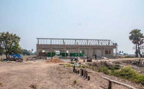 カンボジアの学校建設地84日目の様子