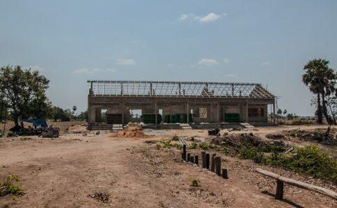 カンボジアの学校建設地85日目の様子