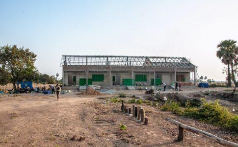 カンボジアの学校建設地86日目の様子