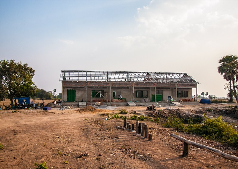 カンボジアの学校建設地87日目の様子