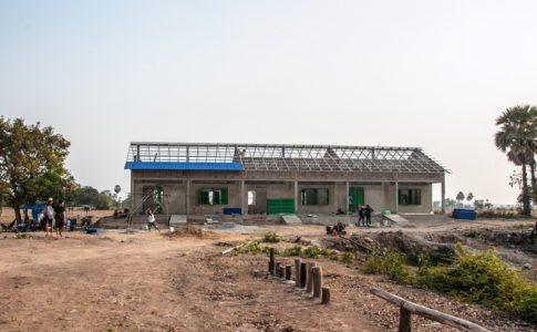 カンボジアの学校建設地88日目の様子