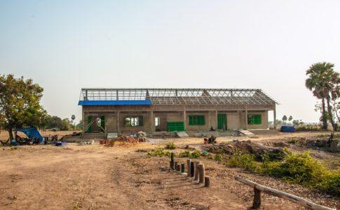 カンボジアの学校建設地89日目の様子