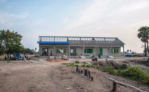 カンボジアの学校建設地90日目の様子