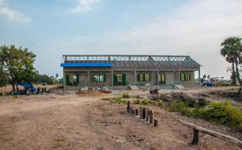 カンボジアの学校建設地91日目の様子