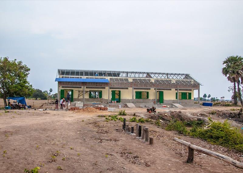 カンボジアの学校建設地92日目の様子