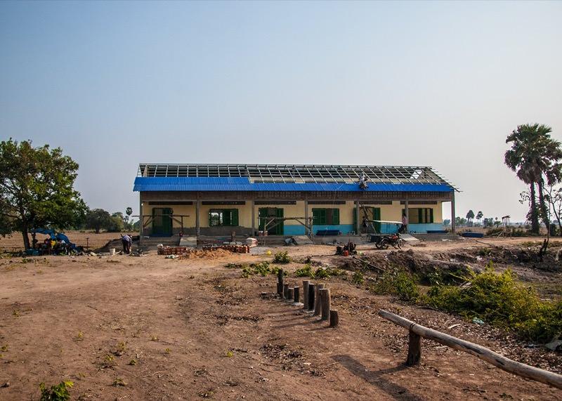 カンボジアの学校建設地93日目の様子