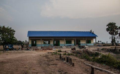 カンボジアの学校建設地94日目の様子