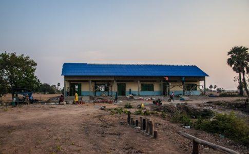 カンボジアの学校建設地95日目の様子