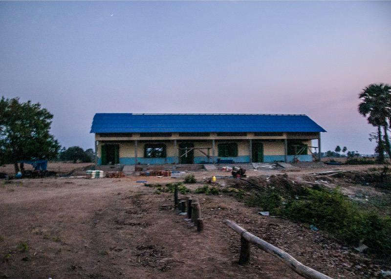 カンボジアの学校建設地98日目の様子