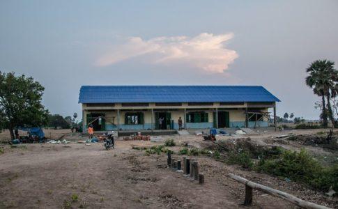カンボジアの学校建設地97日目の様子