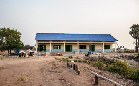 カンボジアの学校建設地99日目の様子