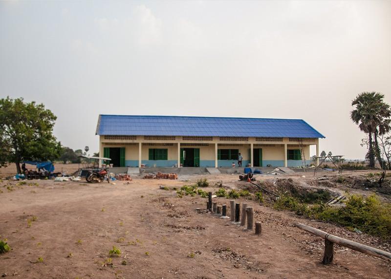 カンボジアの学校建設地100日目の様子