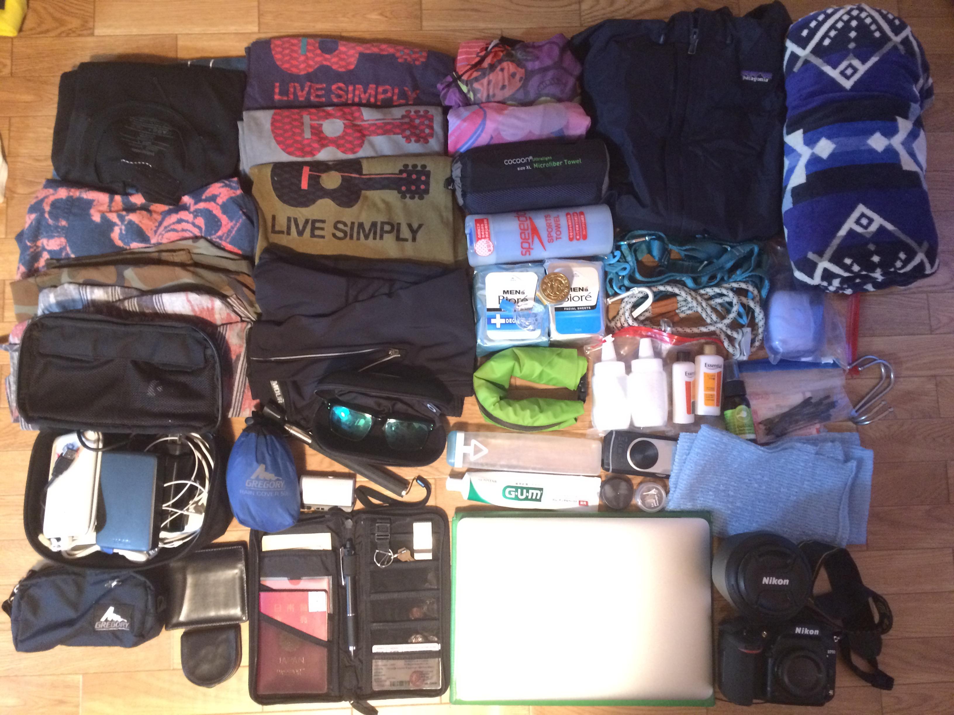【カンボジア旅行の持ち物】10泊11日のカバンの中身はこんな感じ