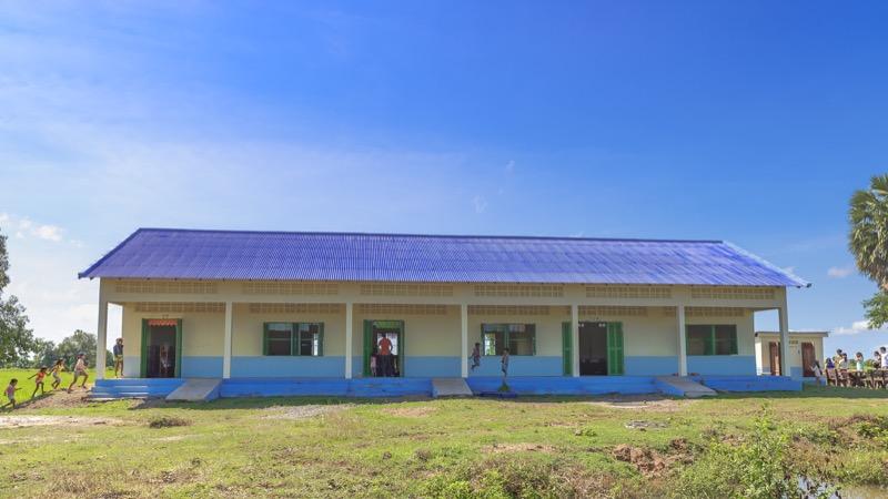 カンボジアに建設した小学校