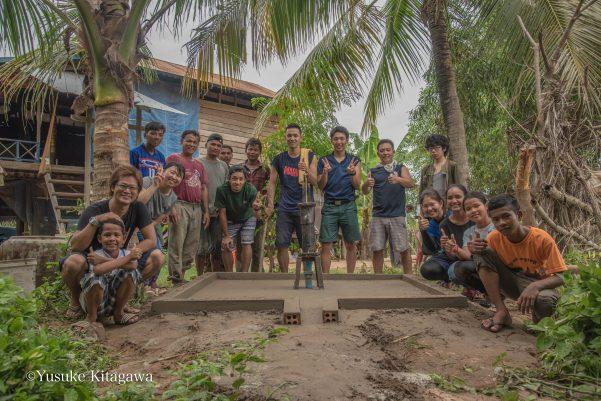 【静岡県立佐久間高等学校贈呈】カンボジアの井戸復活!OB四人が来てくれました