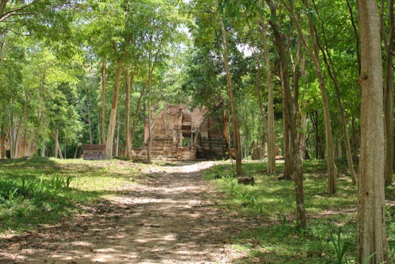 森の中の遺跡