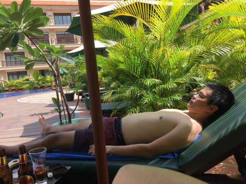 食後の休憩