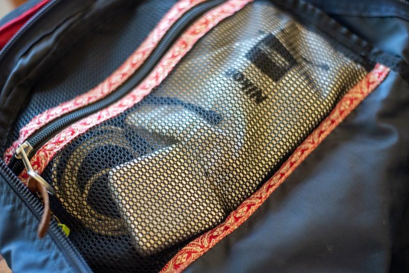 デイアンドハーフパックの内部ポケット