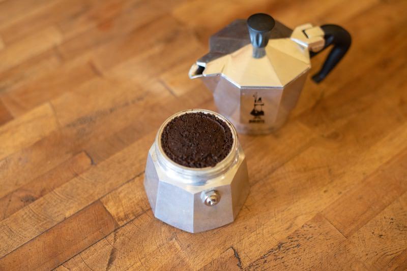 コーヒー豆を設置した様子
