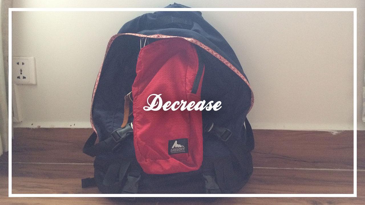 バックパッカーの荷物の減らし方のコツを伝授する