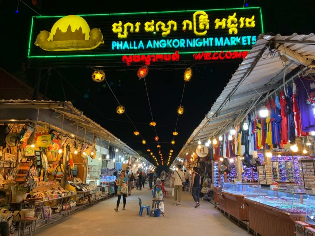 カンボジアのナイトマーケット