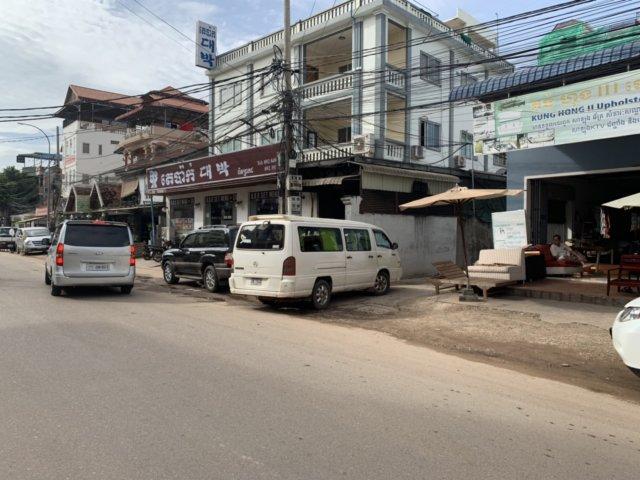 シェムリアップにあるベトナムフォーのお店の前の様子