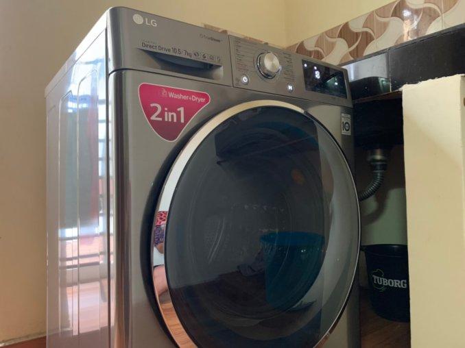 LGのドラム式洗濯乾燥機