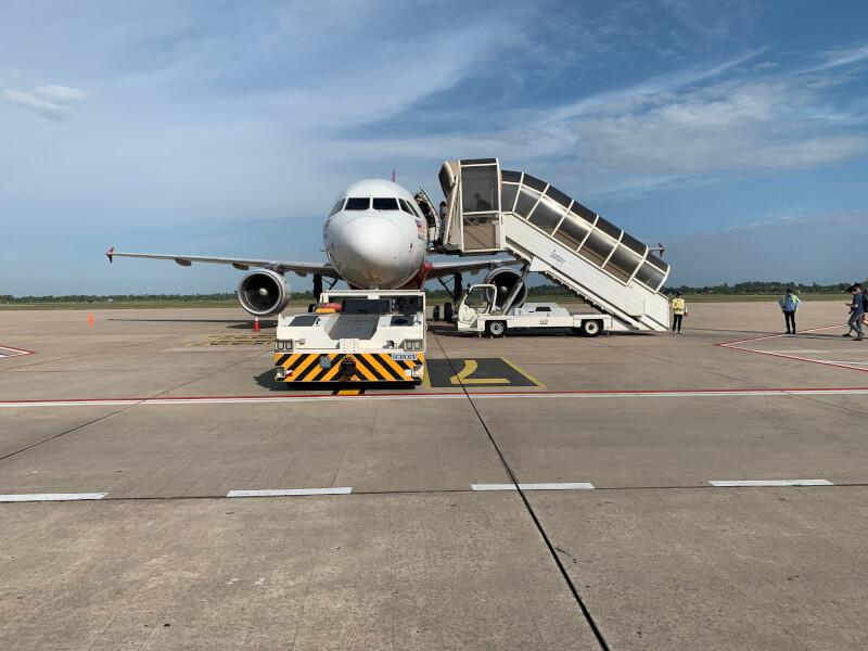 クアラルンプール行きの飛行機