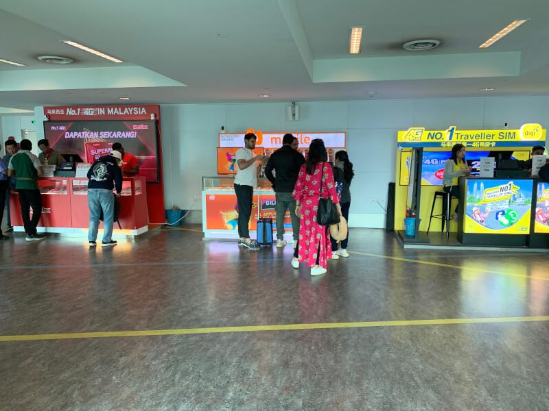 クアラルンプール国際空港のSIM売り場
