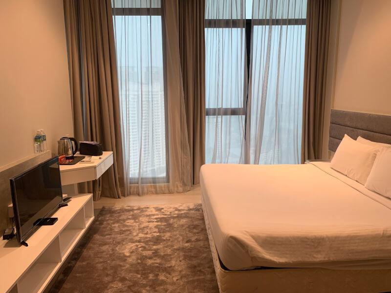 クアラルンプールのホテルの室内