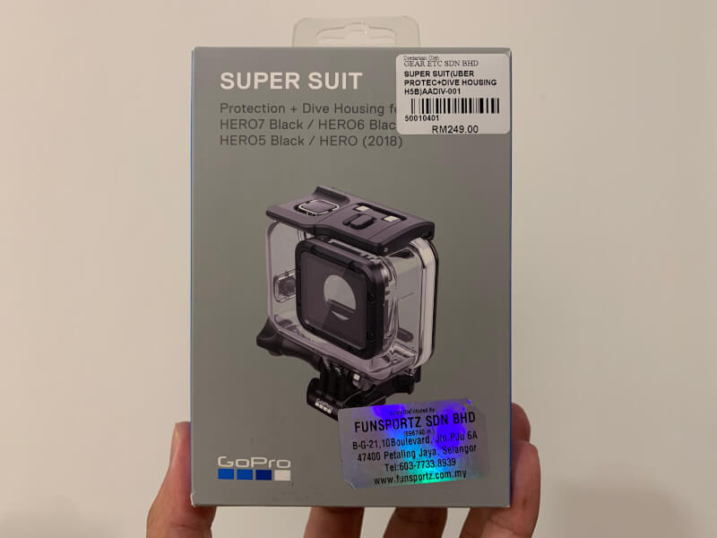 GoPro SUPER SUITの箱