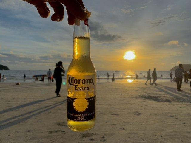 ランカウイの夕日とビール