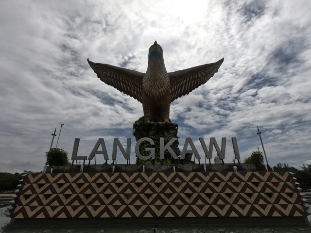 ランカウイ島の鷲のオブジェ