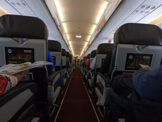 AirAsiaの機内