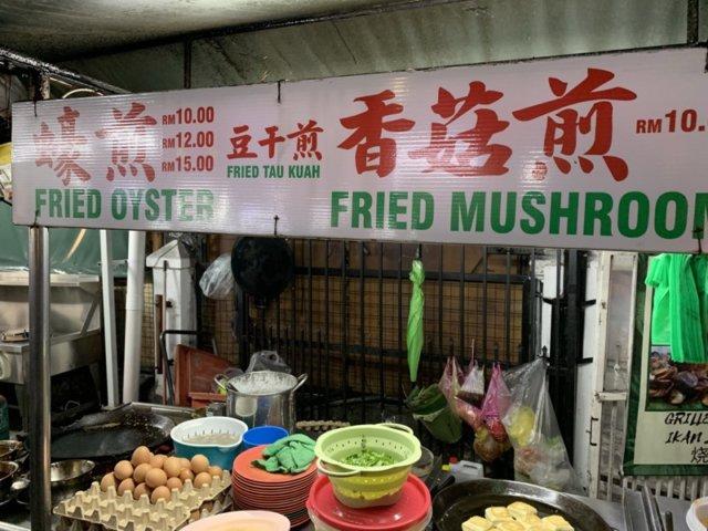 牡蠣を売っている屋台