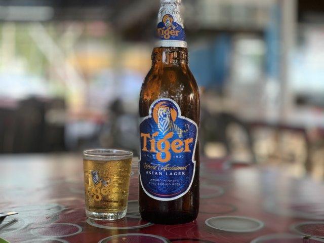 タイガービールの大瓶