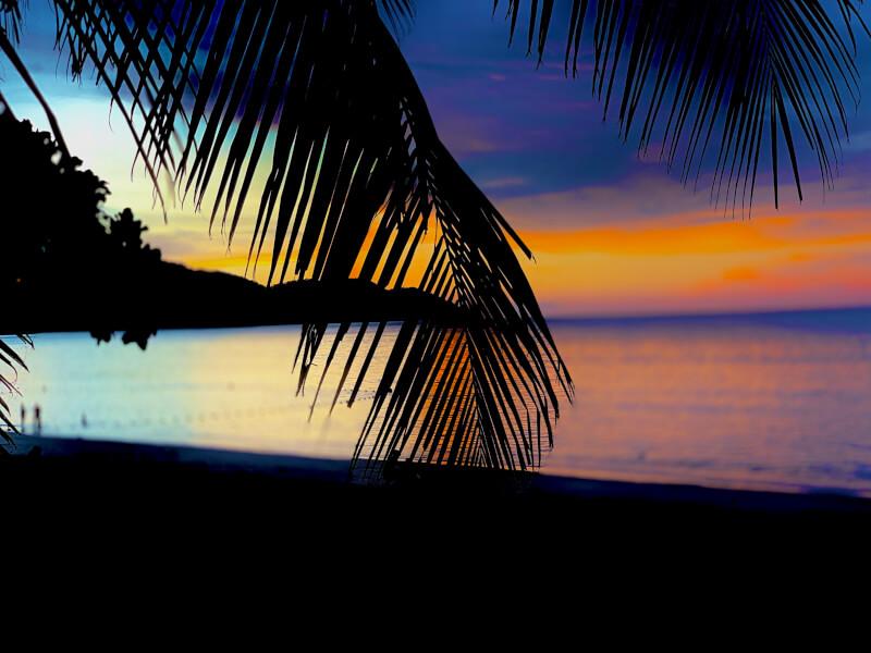 ペナン島の夕日